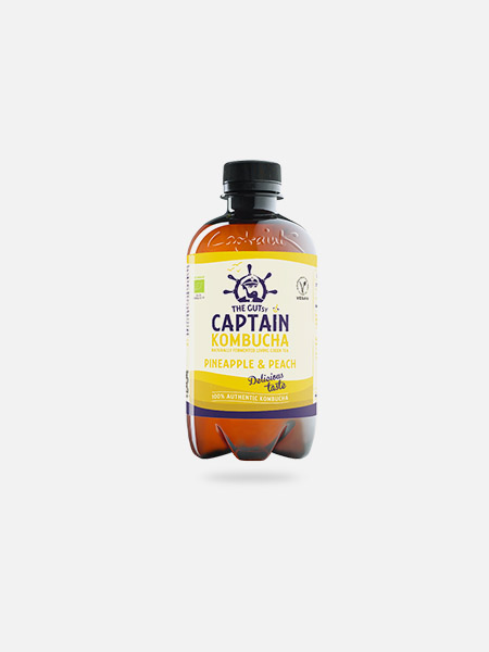 Captain Kombucha Bio Ananás Pêssego - 400 ml - THE GUTsy CAPTAIN