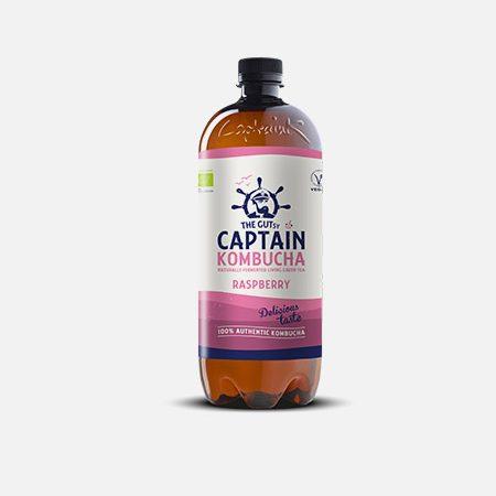 Captain Kombucha Bio Framboesa – 1000 ml – THE GUTsy CAPTAIN