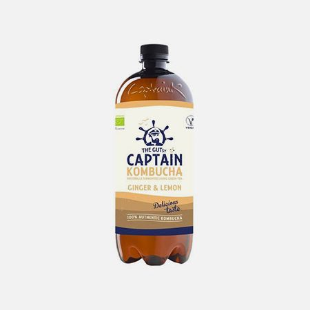 Captain Kombucha Bio Gengibre Limão – 1000 ml – THE GUTsy CAPTAIN