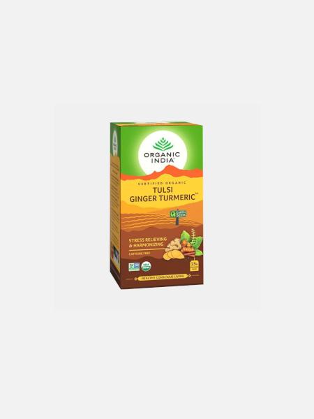 Infusão Bio Tulsi Turmeric Ginger - 25 saquetas - Organic India