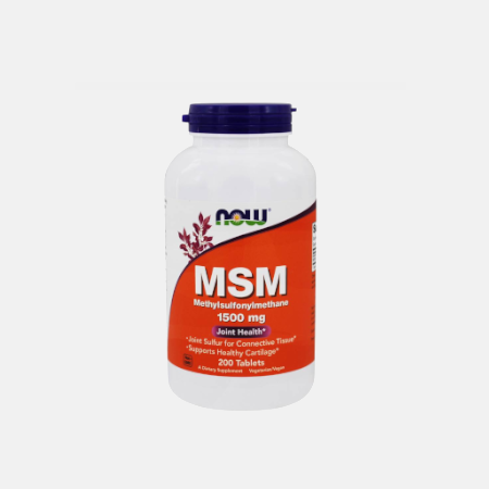 MSM 1500 mg – 200 comprimidos – Now