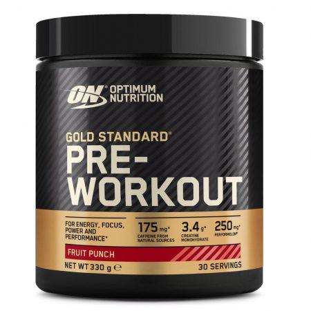 Gold Standard Pre-Workout Fruit Punch – 330g – Optimun Nutrition