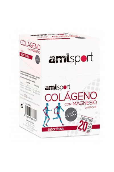 Colagénio com Magnésio e Vita C Amlsport Sabor Morango – 20 Saquetas – Ana Maria LaJusticia