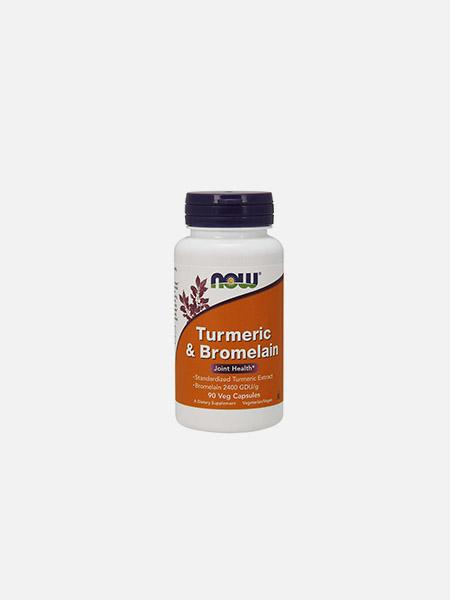 Turmeric & Bromelain - 90 cápsulas - Now