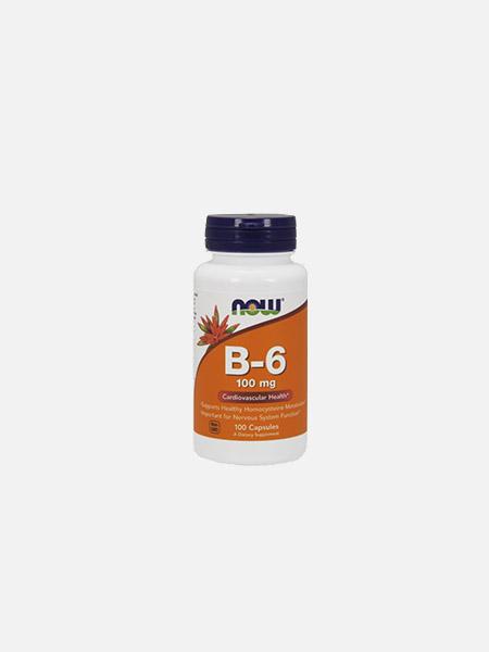 Vitamin B-6 100mg - 100 cápsulas - Now