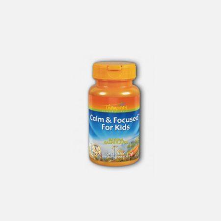 Calm & Focused for Kids – 30 cápsulas mastigáveis – Thom
