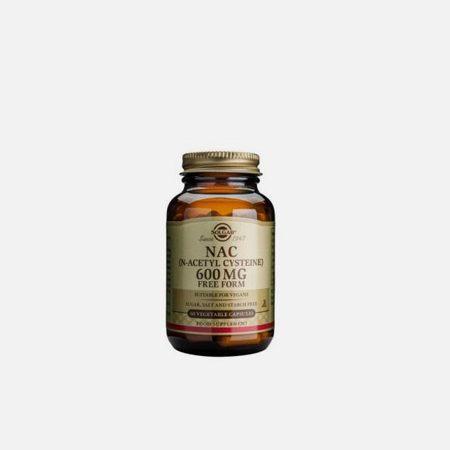 NAC (N-Acetyl,L-Cysteine) 600mg – 60 Cápsulas – Solgar