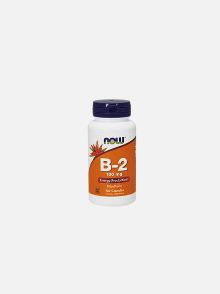Vitamina B-2 (Riboflavina) 100mg - 100 cápsulas - Now