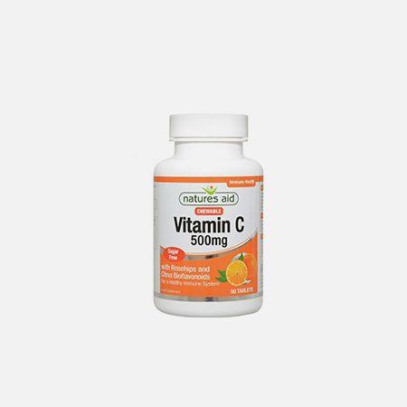 Vitamina C 500mg (mastigável) – 50 comprimidos – Natures Aid