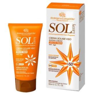 SOL LEON crema facial solar SPF 50 alta prot. 50ml
