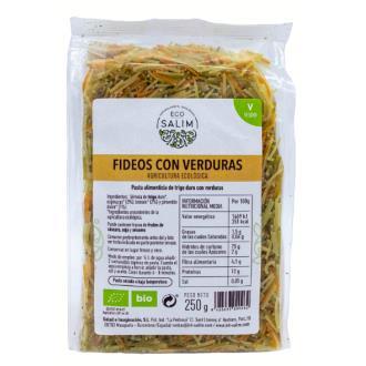 FIDEOS FINOS con verduras 250gr. BIO