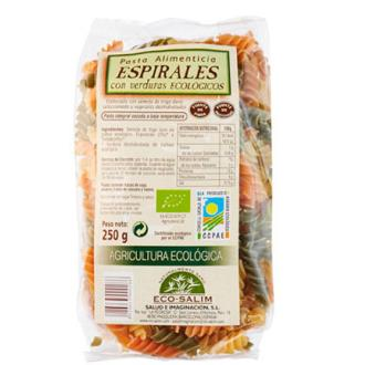 ESPIRALES con verduras 250gr. BIO