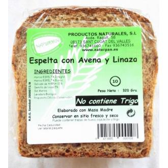 PAN DE ESPELTA DE AVENA Y LINO 320gr.