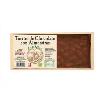 TURRON CHOCOLATE CON ALMENDRAS BIO 200gr.**