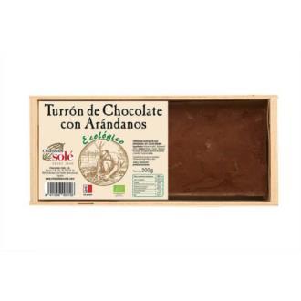 TURRON CHOCOLATE CON ARANDANOS BIO 200gr.**