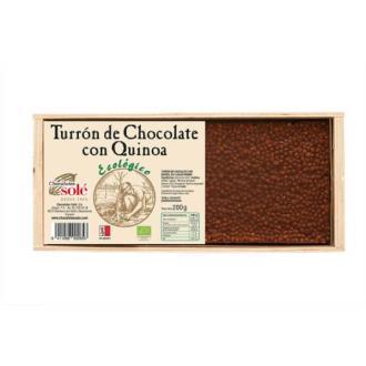 TURRON CHOCOLATE CON QUINOA 200gr. BIO**