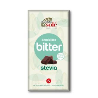 CHOCOLATE NEGRO 72% con stevia 100gr
