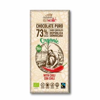 CHOCOLATE NEGRO 73% con chili 100gr.