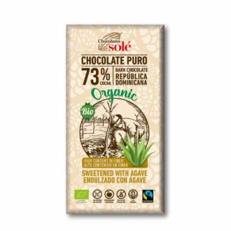 CHOCOLATE NEGRO 73%  con agave 100gr.