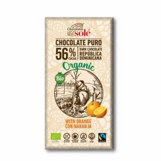 CHOCOLATE NEGRO con naranja 100gr.