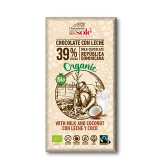 CHOCOLATE CON LECHE Y COCO 100gr.