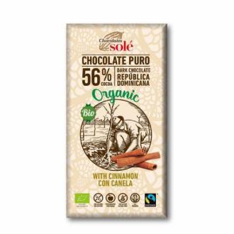 CHOCOLATE NEGRO con canela  100gr.