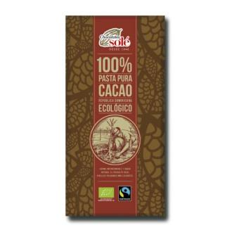 CHOCOLATE NEGRO 100%  100gr.