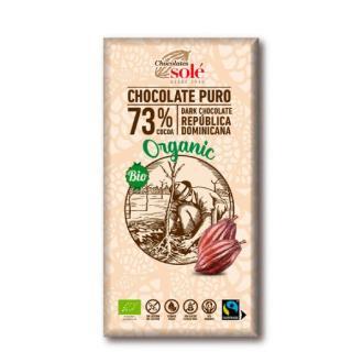 CHOCOLATE NEGRO 73%  100gr.