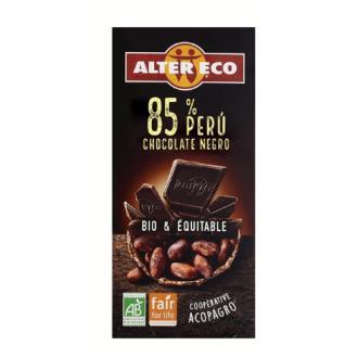 CHOCOLATE NEGRO 85%  Peru 100gr.BIO