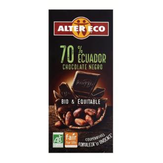 CHOCOLATE NEGRO 70% Ecuador 100gr. BIO