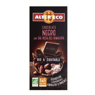 CHOCOLATE NEGRO con sal del himalaya 100gr. BIO