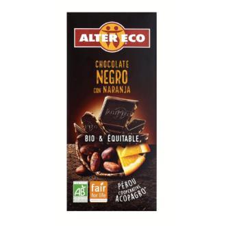 CHOCOLATE NEGRO con naranja 100gr. BIO