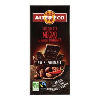 CHOCOLATE NEGRO al punto de pimienta 100gr. BIO