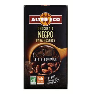 CHOCOLATE NEGRO para postres 200gr. BIO