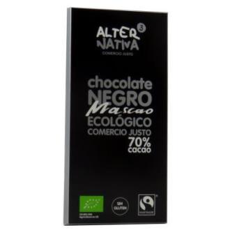 CHOCOLATE 70% CACAO mascao 80gr. ECO