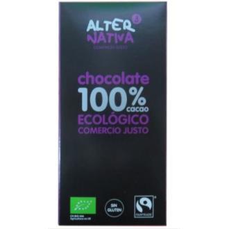 CHOCOLATE 100% CACAO 80gr. ECO