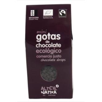 GOTAS CHOCOLATE 48% CACAO mini 225gr. ECO