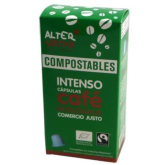 CAFE INTENSO 10capsulas cafe compostable. ECO