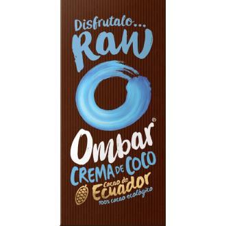 CHOCOLATE con crema de coco crudo 35gr. BIO VEGAN