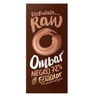 CHOCOLATE NEGRO 72 crudo 35gr. BIO VEGAN