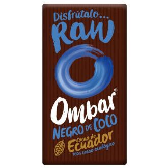 CHOCOLATE NEGRO con crema de coco crudo 35gr. BIO
