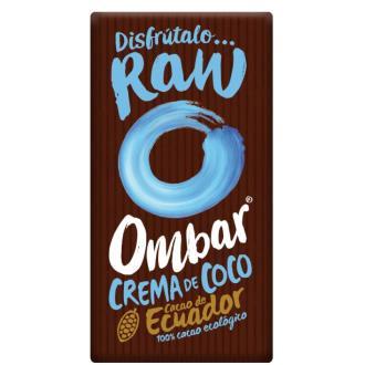 CHOCOLATE con crema de coco crudo 70gr. BIO VEGAN