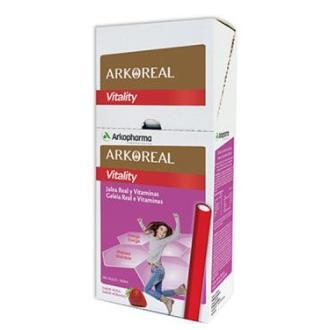 ARKOREAL vitality jalea+vitaminas 50barritas fresa