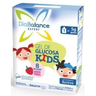 DIABALANCE gel glucosa kids fresa 8ud.