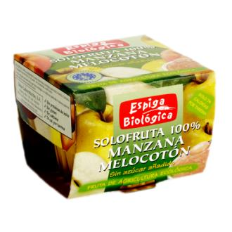 SOLOFRUTA COMPOTA MANZANA-MELOCOTON 2uds ECO VEGAN