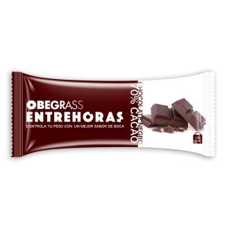 OBEGRAS barritas entrehoras chocolate negro 20ud.