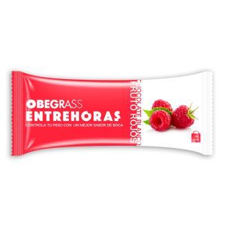 OBEGRAS barritas entrehoras choco-frutos rojo 20ud
