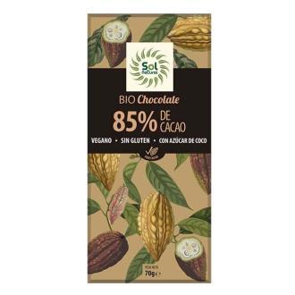 CHOCOLATE NEGRO 85% 70gr. BIO