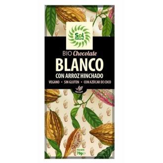CHOCOLATE BLANCO con arroz 70gr BIO