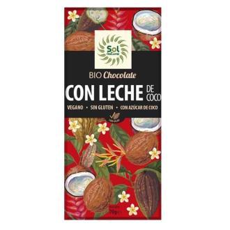 CHOCOLATE CON LECHE DE COCO 70gr. BIO
